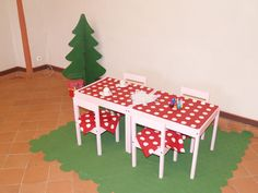 Decor at a Red Riding Hood Party #redridinghood #partydecor