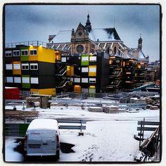 Le trou des #halles sous la #neige #snow