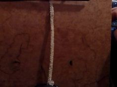 bracelet, standard width, all hemp, but with bead closure instead of silver button closure