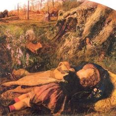 Arthur Hughes - The Woodman's Child