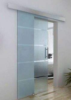Modern Glass Sliding Door Designs Ideas For Yout Bathroom 13 - April 27 2019 at Sliding Door Design, Sliding Door For Bathroom, Glass Bathroom Door, Internal Glass Sliding Doors, Sliding Cupboard, Modern Sliding Doors, Sliding Wall, Bathroom Closet, Cupboard Doors