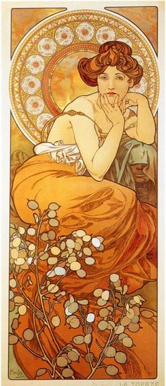 Topaz by Alphonse Mucha. Check out the moon plant! Marvelous!