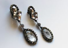 DIY Vintage inspired rhinestone earrings