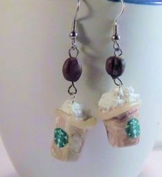 Starbucks Frappuccino Earrings(These are really cute!!!)