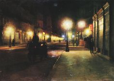 "Ludwik de Laveaux, ""Parisian Street at Night"", 1892-93"