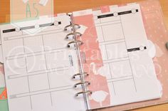 A5 planner kit flamingo - Kit organiseur A5 flamant rose