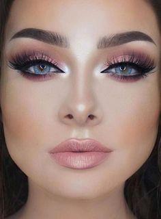 Gorgeous Makeup: Tips and Tricks With Eye Makeup and Eyeshadow – Makeup Design Ideas Natural Eye Makeup, Simple Eye Makeup, Blue Eye Makeup, Eye Makeup Tips, Makeup For Brown Eyes, Makeup Inspo, Makeup Inspiration, Hair Makeup, Makeup Ideas