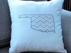 Oklahoma chevron pillow