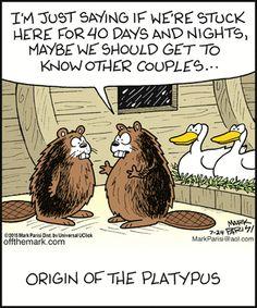 Religious humor - comics on evolution. Off the Mark  comics (July/24/2015). Rofl!!!!