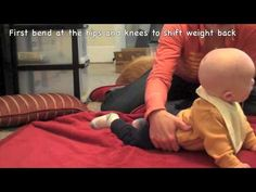 Moving from your Tummy into Sitting... This video shows you how you can help your little one learn how!