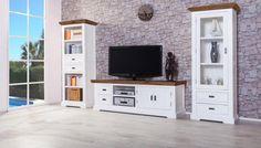 Perfekt TV Schrank Olympia Groß   Akazie Massiv U2013 Weiß/braun Bei Moebelkultura  Bestellen. Möbel Direkt Vom Hersteller, Versand Und Trusted Shops  Zertifiziert.