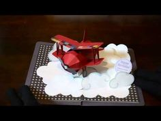pop up card 【赤い飛行機】biplane - YouTube