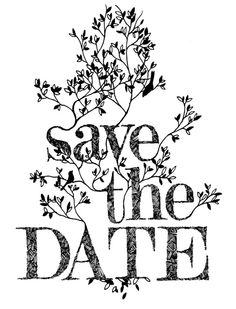 Black and White Sketch Save the Date
