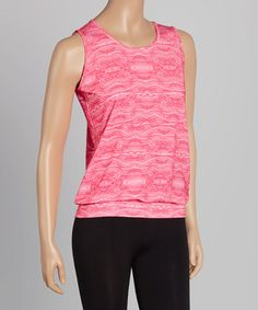 Another great find on #zulily! Pink Treehugger Performance Tank - Women by Running Skirts #zulilyfinds