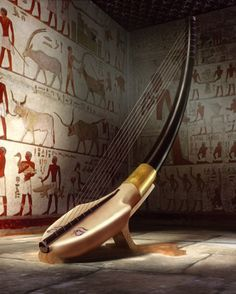 ancient egyptian harp called arched harp