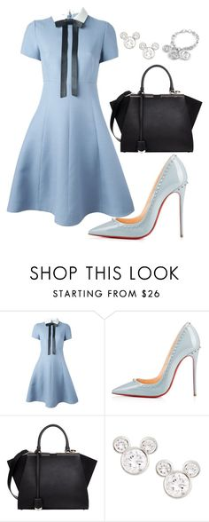 helia's style theory by heliaamado on Polyvore featuring Valentino, Christian Louboutin, Fendi, Gucci and Disney