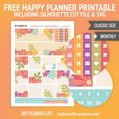 Free Monthly Printable – Floral Passion