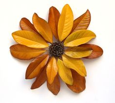 Make Flowers from Nature Walk Finds - A Piece Of Rainbow