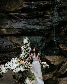 Photographer: @damienmilan_photographer | Shoot location: Deep Creek Reserve | Flora: @whitehouseflowers | Hair: @courtleehairstyling | Makeup: @makeup_byleah | Model: @emuuly | Cake: @by.gigi | Dresses: @annacampbellbridal, @kwhbridal | Jewellery: @alanamariajewellery - see the online journal for the full feature.
