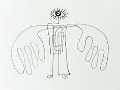 KunSTrich, Bleistiftzeichnung, Engel von tisch8-artwork auf DaWanda.com