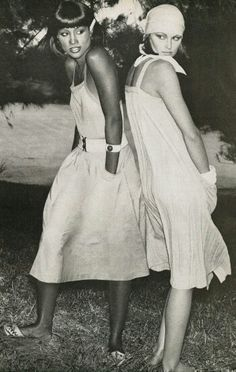 Beverly Johnson & Denise Hopkins by Kourken Pakchanian