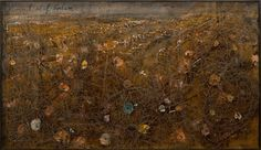 Anselm Kieffer (German b. 1945)  Himmel auf Erden / Heaven on Earth 1998  acrylic, oil, shellac and dried branches under glass-fronted vitrine  Collection of Dr. Stuart Seltzer and Dr. Stephen Seltzer  Courtesy of Galerie Samuel Lallouz