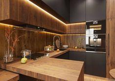 Kitchen Pantry Design, Modern Kitchen Design, Home Decor Kitchen, Interior Design Kitchen, Kitchen Furniture, Home Kitchens, Cabinet Furniture, Wooden Furniture, Aluminium Kitchen