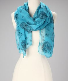 Take a look at this Blue Butterfly Silk Scarf by Raj Imports on #zulily today!