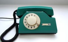 Vintage Russian dial rotary telephone green color.. $46.00, via Etsy.