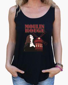 Camiseta cuello pico Moulin Rouge - nº 175623 - Camisetas latostadora