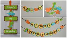 Items similar to Dinosaur Banner, Dino Party, Dinosaur Birthday Banner on Etsy Jungle Theme Birthday, Lion King Birthday, Dinosaur Birthday Party, 1st Birthday Parties, Boy Birthday, Birthday Ideas, Dinosaur Party Decorations, Diy Birthday Decorations, Party Food Labels