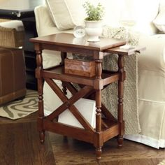 Perfect for the small space I'm going to have for a bedside table...Annette Magazine Side Table
