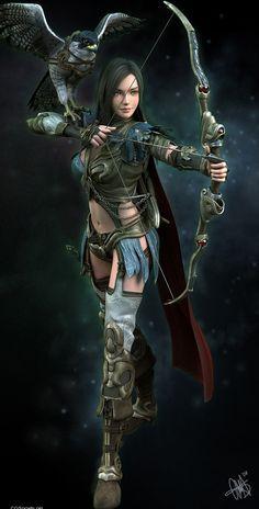 New fantasy art warrior women ranger ideas Fantasy Warrior, Fantasy Girl, Chica Fantasy, 3d Fantasy, Fantasy Kunst, Warrior Girl, Warrior Princess, Fantasy Women, Fantasy Artwork