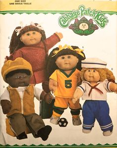 CABBAGE PATCH KIDS Sewing Pattern Sailor Suit Soccer Uniform Cheerleader Outfit Doll Clothes #patterns4you