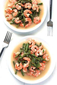 Dinner Recipes: Shrimp and Asparagus Stir-Fry Paleo Whole 30, Whole 30 Recipes, Clean Recipes, Paleo Recipes, Cooking Recipes, Kid Recipes, Summer Recipes, Asparagus Stir Fry, Shrimp And Asparagus