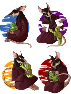 How Splinter is affectionate to each and one his sons