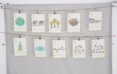 Nature Themed Counting Number Cards in English artandphilanthropy from Etsy
