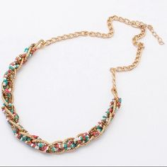 Ethnic Twist Beads Handmade Multicolor Necklace Brand new. Price is final. No trade. Feel free to browse my closet. Jewelry Necklaces