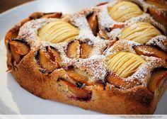 Kleine Kuchen - Haselnuss-Apfel-Pflaumen-Kuchen