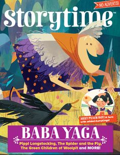 Baba Yaga on her broomstick for our October issue of Storytime (Issue 26). We ship worldwide! Subscribe today at http://www.storytimemagazine.com/subscribe