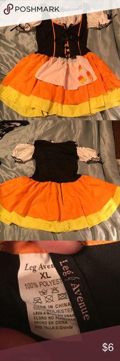 Girls Candy Corn Costume sizeXL Worn once Costumes Halloween