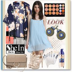 FG401 by axenta on Polyvore featuring мода, Chloé, Maybelline, NYX, dress, bags, earrings and axenta