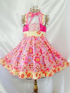 Girls Realmente Hermoso! Dress Size 4-5 Handmade; Everyday Use 100% cotton #Handmade #Everyday