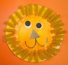 Wesley Summer 2015; Rotini Lion for the zoo craft. Love the face.
