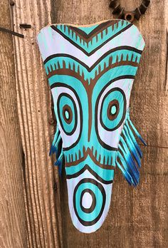 Surprised Tribal Tiki Palm Frond Tiki Mask by Schroederville on Etsy