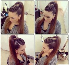 Hair for dance competition