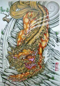 japanese diety tattoo art - Google Search