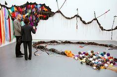 Frieze New York: Ndize: Tail by Nicholas Hlobo at the Stevenson gallery