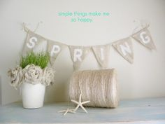 Simple Daisy: {burlap craft project}