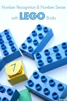 Preschool Number Recognition and Number Sense LEGO inspired activity